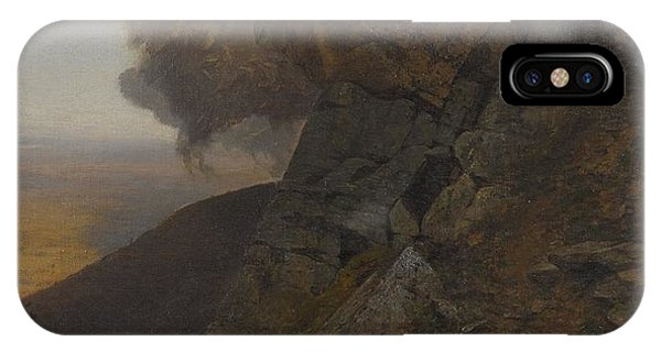 Jervis iPhone Case -  A Cliff In The Katskills by Jervis McEntee
