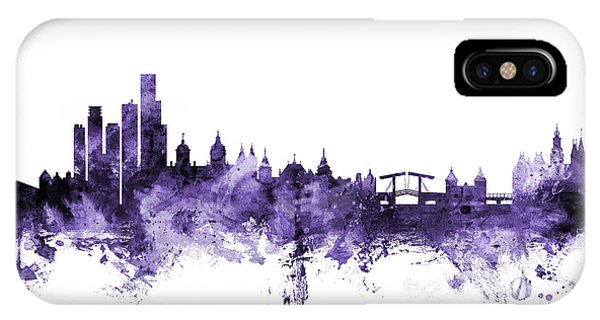Holland iPhone Case - Amsterdam The Netherlands Skyline by Michael Tompsett