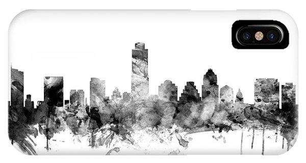 Austin iPhone Case - Austin Texas Skyline by Michael Tompsett