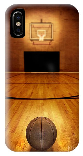 Sports iPhone Case - Basketball And Basketball Court by Lane Erickson