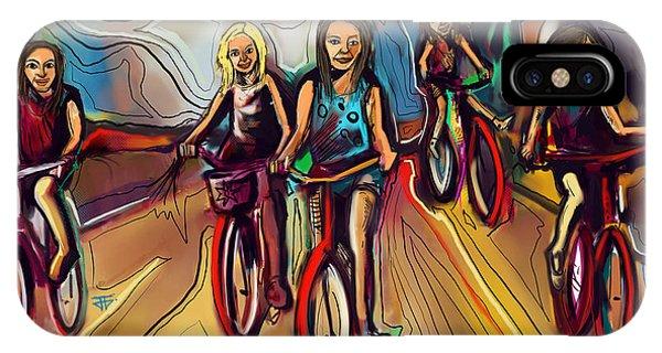 5 Bike Girls IPhone Case