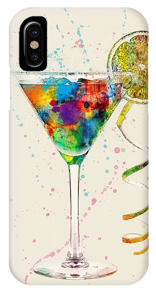 Glasses iPhone Case - Cocktail Drinks Glass Watercolor by Michael Tompsett