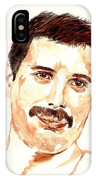Legends Music iPhone Case - Freddie Mercury Portrait by Suzann's Art