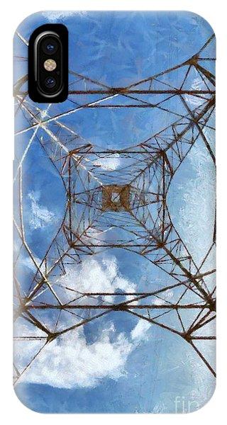Pylon iPhone Case - High Voltage Pylon by George Atsametakis