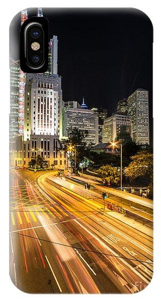 Hong Kong Night Rush IPhone Case