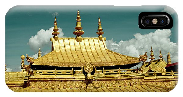 Kora iPhone Case - Lhasa Jokhang Temple Fragment Tibet Artmif.lv by Raimond Klavins