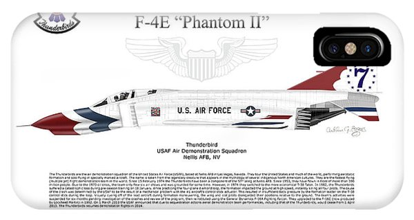 Mcdonnell Douglas F-4e Phantom II Thunderbird IPhone Case