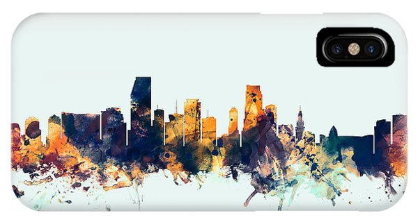 Miami Florida Skyline IPhone Case