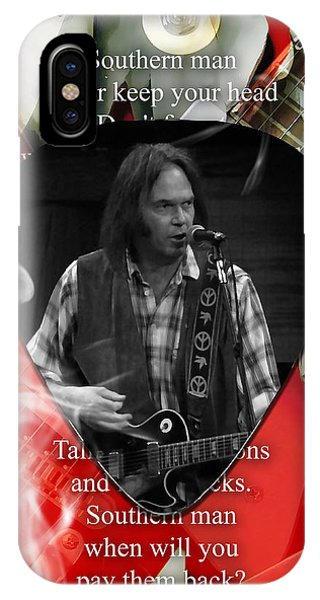Neil Young Art IPhone Case