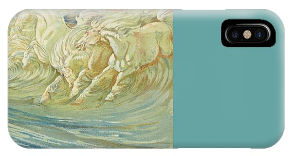 Neptune's Horses IPhone Case