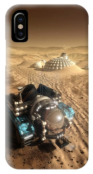 IPhone Case featuring the digital art Mars Exploration Vehicle by Bryan Versteeg