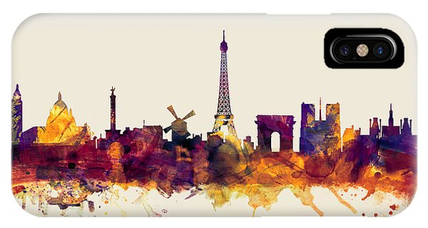 Paris iPhone Case - Paris France Skyline by Michael Tompsett
