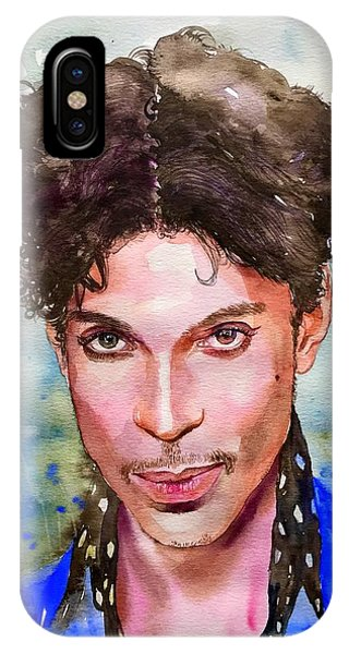 Legends Music iPhone Case - Prince Rogers Nelson Portrait by Suzann's Art