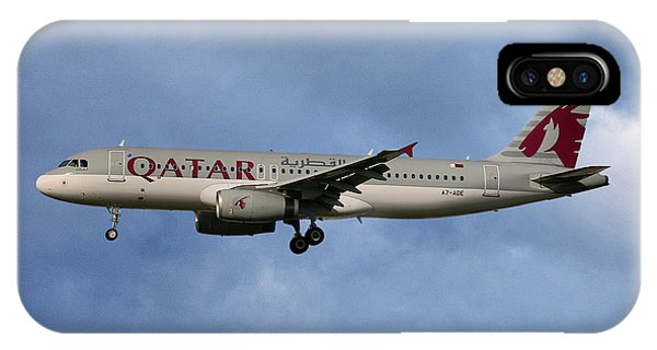Jet iPhone Case - Qatar Airways Airbus A320-232 by Smart Aviation