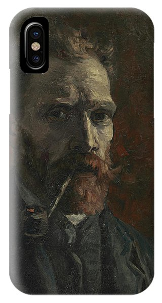 Van Gogh Museum iPhone Case - Self-portrait With Pipe by Vincent van Gogh