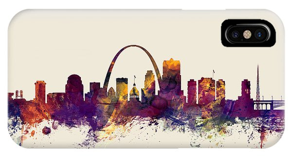 Missouri iPhone Case - St Louis Missouri Skyline by Michael Tompsett