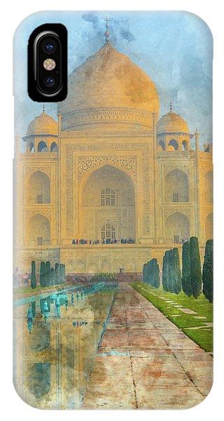 Taj Mahal In Agra India IPhone Case