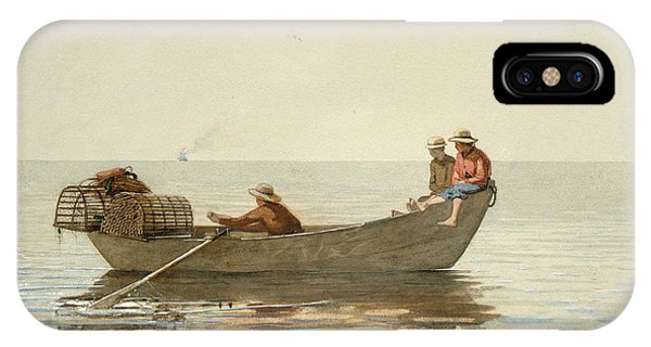 Homer iPhone Case - Three Boys In A Dory With Lobster Pots by Winslow Homer