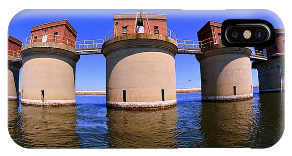 5 Towers At Dreher Shoals Dam On Lake Murray Sc IPhone Case