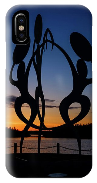 United In Celebration Sculpture At Sunset 1 IPhone Case