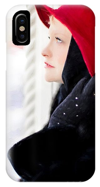 IPhone Case featuring the digital art Vintage Val Winter Glam by Jill Wellington