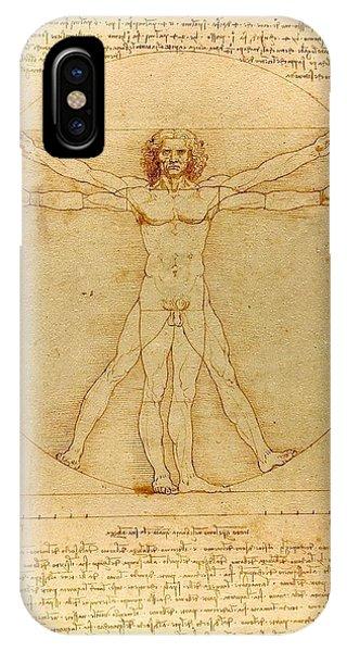 Vitruvian Man IPhone Case