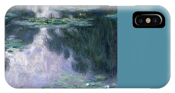 Impressionism iPhone X Case - Waterlilies by Claude Monet