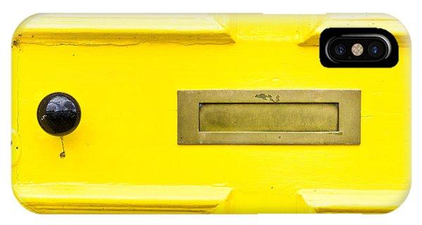 Yellow iPhone Case - Yellow Door by Tom Gowanlock