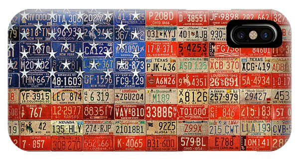 50 Plates One Union Recycled License Plate American Flag IPhone Case