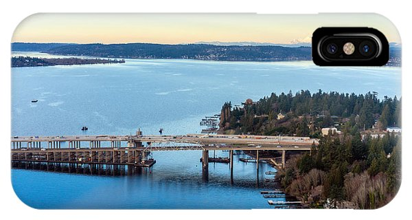 Downtown Seattle iPhone Case - 520 Bridge And Mount Baker by Mike Reid