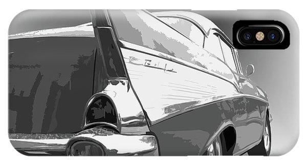 Dick Goodman iPhone Case - 57 Chevy Horizontal by Dick Goodman