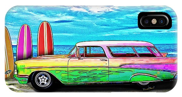 57 Chevy Nomad Wagon Best Part Of Waking Up IPhone Case