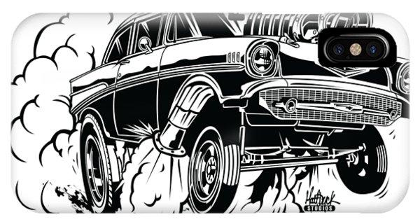 iPhone Case - '57 Gasser Cartoon by Matt Dyck