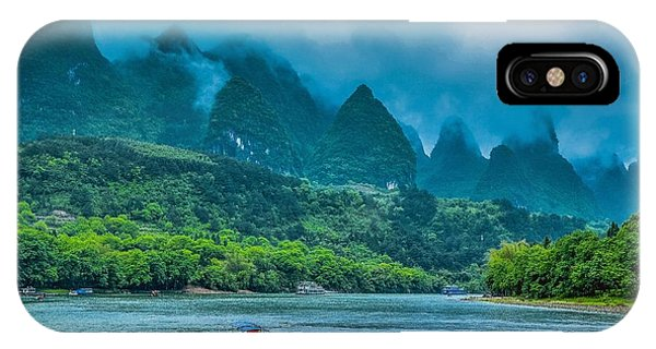 IPhone Case featuring the photograph Karst Mountains And Lijiang River Scenery by Carl Ning