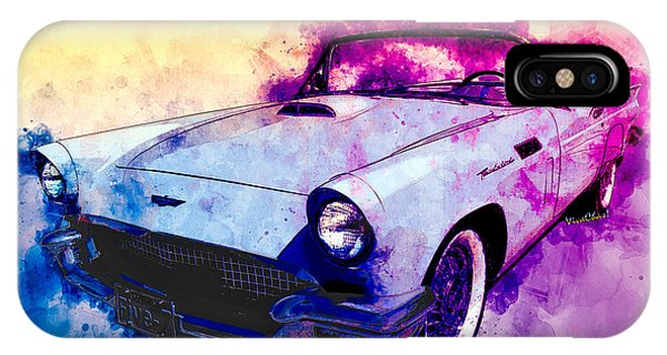 57 Thunderbird Watercolour IPhone Case