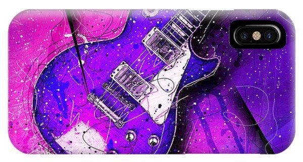 Van Halen iPhone Case - 59 In Blue by Gary Bodnar