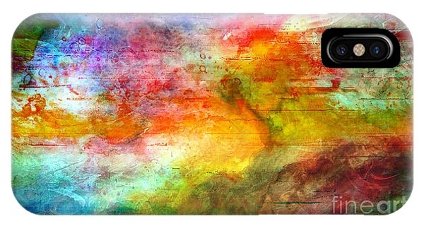 5a Abstract Expressionism Digital Painting IPhone Case