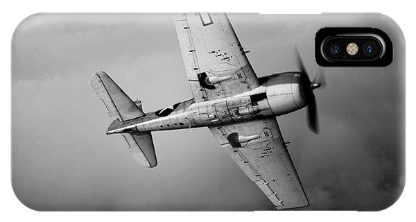 Head And Shoulders iPhone Case - A Grumman F6f Hellcat Fighter Plane by Scott Germain