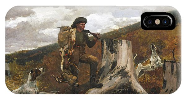Homer iPhone Case - A Huntsman And Dogs by Winslow Homer