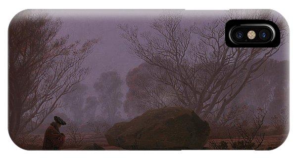 Barren iPhone Case - A Walk At Dusk by Caspar David Friedrich