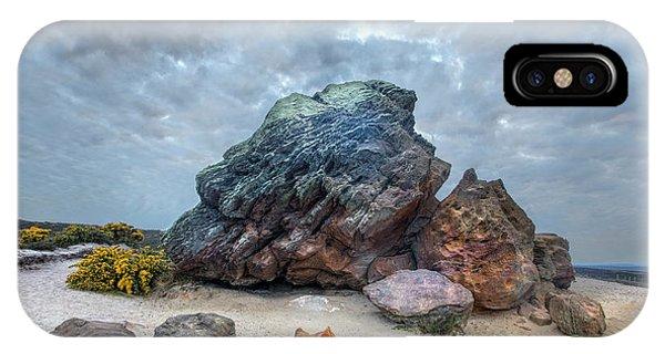 Swanage iPhone Case - Agglestone Rock - England by Joana Kruse
