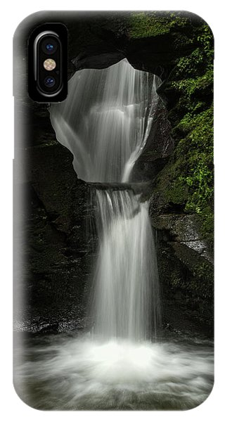 Fairy Glen iPhone Case - Beautiful Flowing Waterfall With Magical Fairytale Feel In Lush  by Matthew Gibson