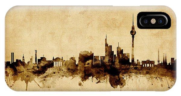 Germany iPhone Case - Berlin Germany Skyline by Michael Tompsett