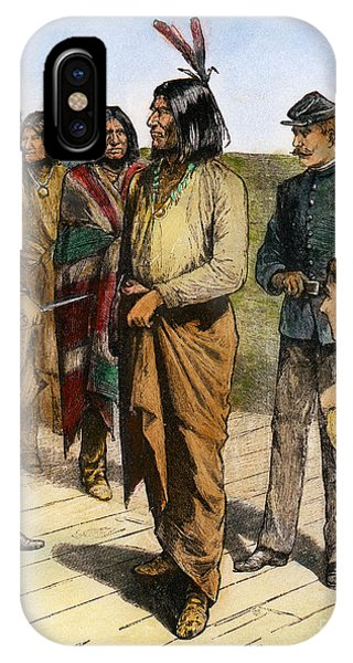 Native iPhone Case - Geronimo 1829-1909.  To License For Professional Use Visit Granger.com by Granger