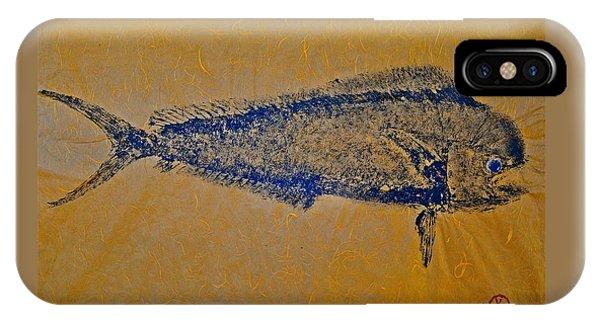 Gyotaku - Mahi Mahi - Dorado - Dolphinfish IPhone Case