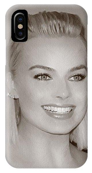 Orlando Bloom iPhone Case - Hollywood Star Margot Robbie by Elizabeth Simon