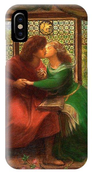 Divine Love iPhone Case - Paolo And Francesca Da Rimini by Dante Gabriel Rossetti