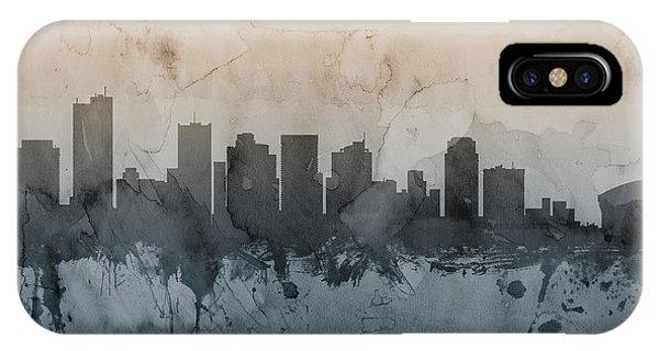 Phoenix iPhone Case - Phoenix Arizona Skyline by Michael Tompsett