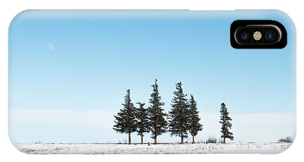 6 Pines And The Moon IPhone Case
