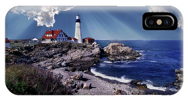 Lighthouse Wall Decor iPhone Case - Portland Head Lighthouse by Skip Willits